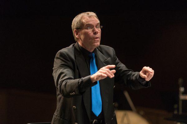 Doug conducting, Spring 2017